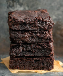 photo of a stack of brownies