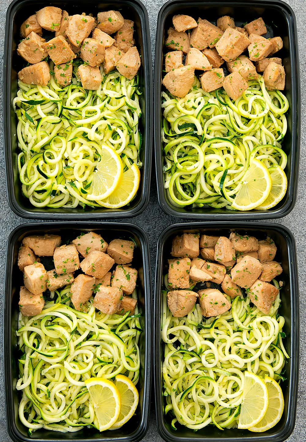Lemon Garlic Chicken With Zucchini Noodles Meal Prep Kirbie S Cravings