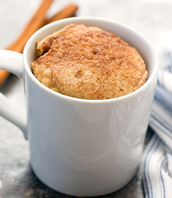 Low Carb Snickerdoodle Mug Cake