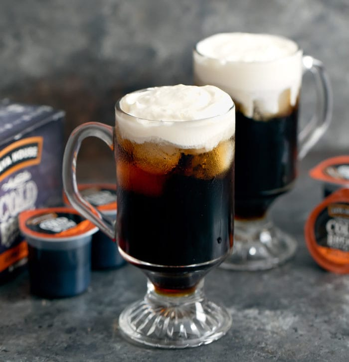 photo of two Cold Brew Irish Coffee Cocktails