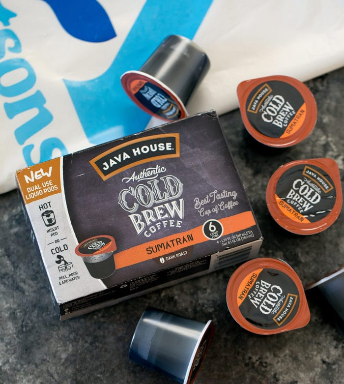 photo of a package of java house coffee pods