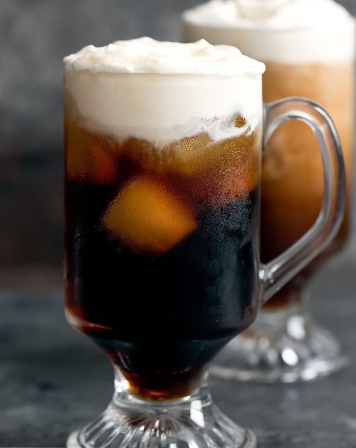 close-up photo of a Cold Brew Irish Coffee Cocktail