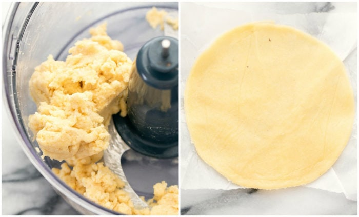 photo collage showing how to make the tortilla dough