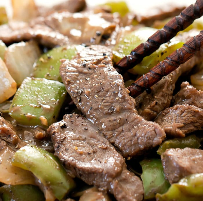 close-up photo of Black Pepper Beef