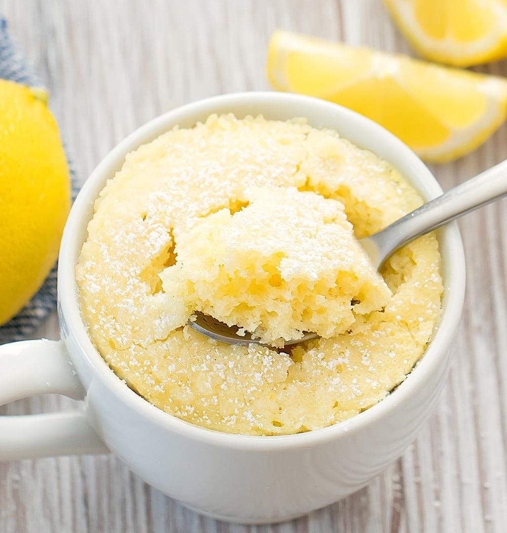 Keto Lemon Mug Cake Kirbie S Cravings