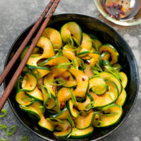 spicy zucchini noodles
