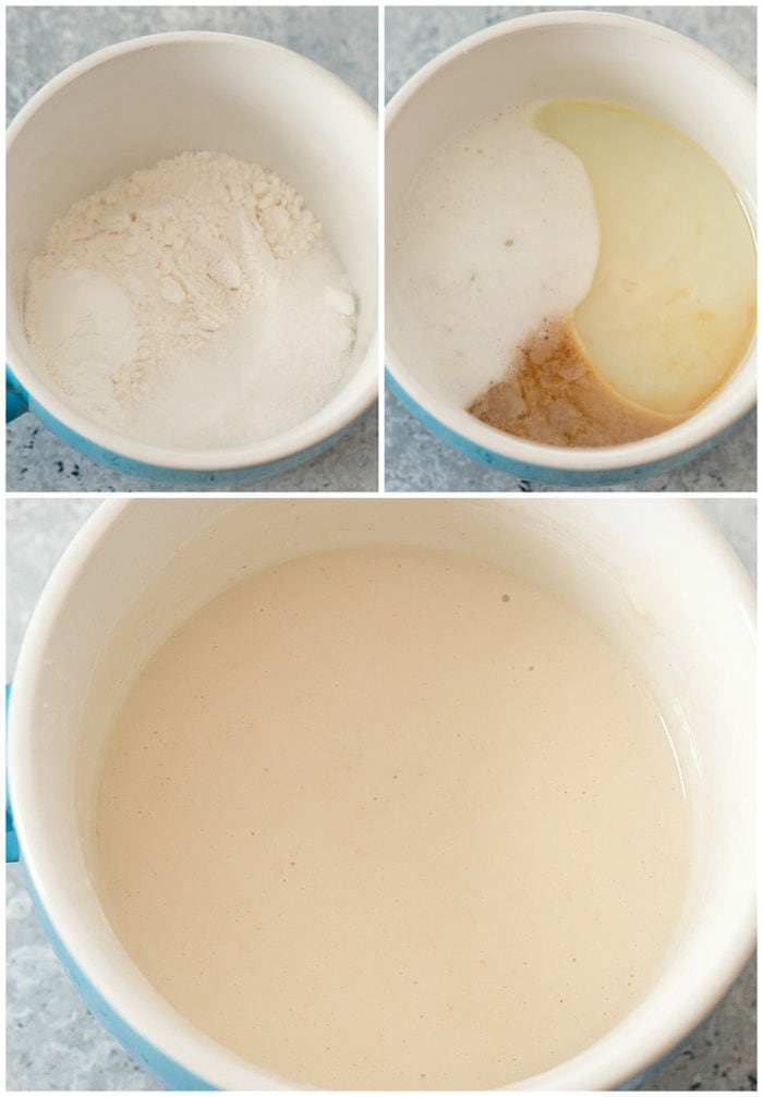 step by step photos for making vanilla mug cake