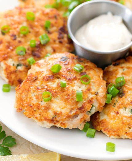 chicken fritters on a plate