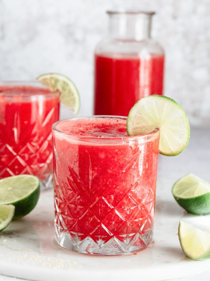 photo of a glass of watermelon juice