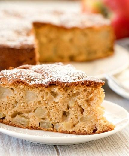 slice of an apple cake