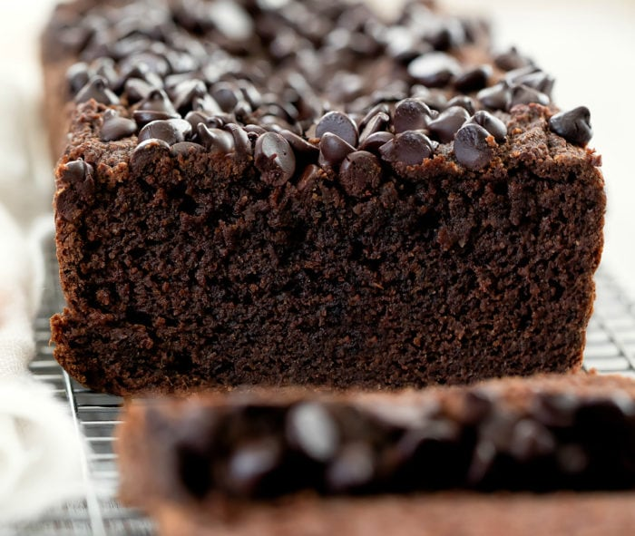 close-up photo of chocolate pumpkin bread