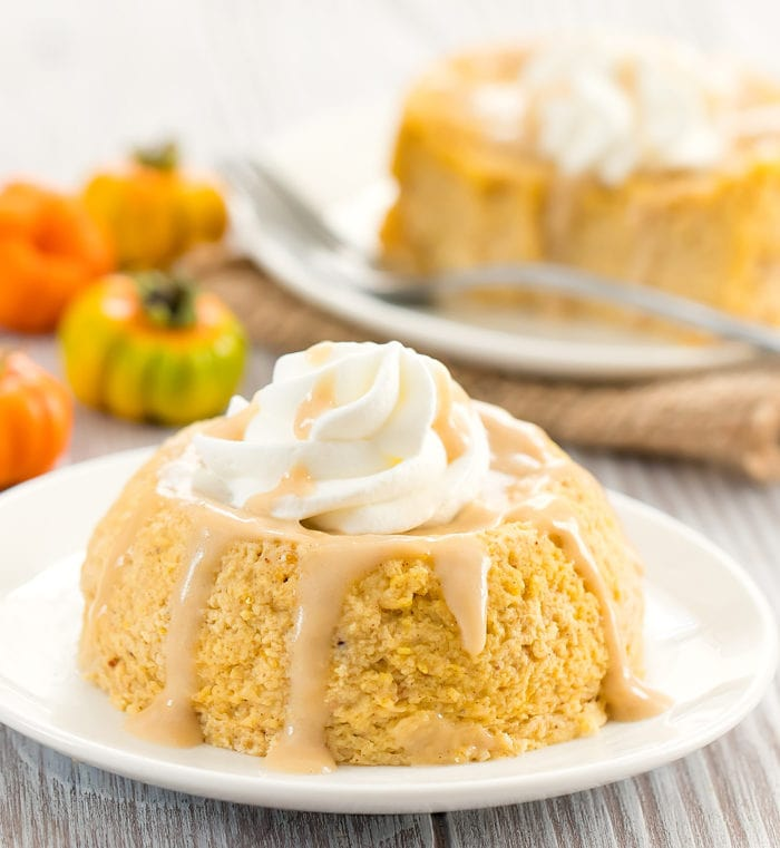 Keto Microwave Pumpkin Cheesecake
