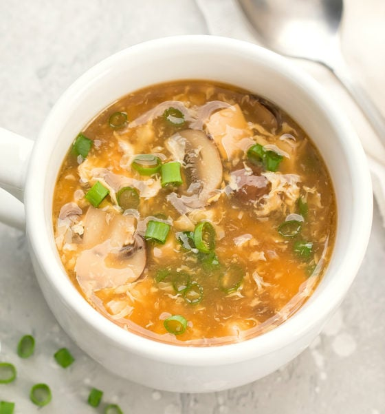 Microwave Hot and Sour Soup