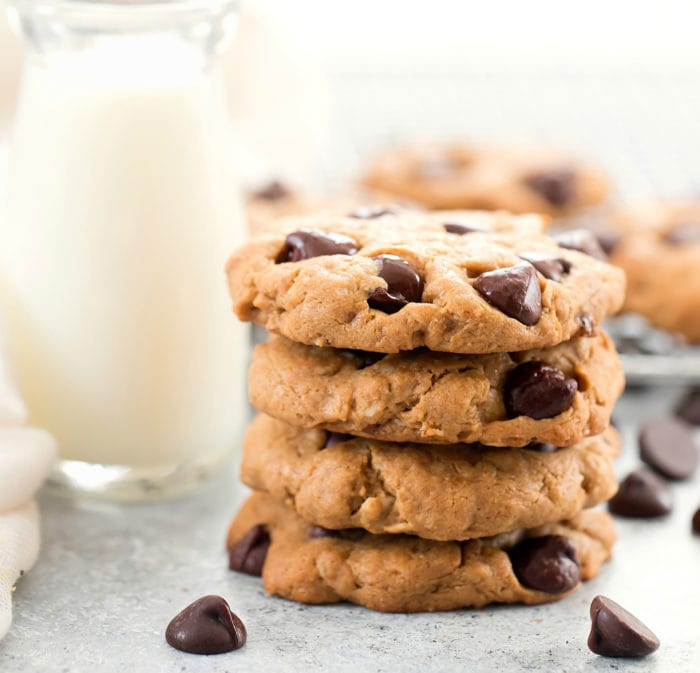 photo of a stack of flourless cookies