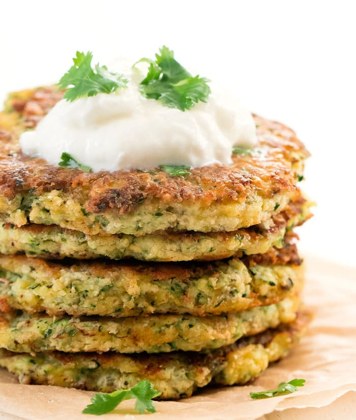 close-up photo of fritters stacked