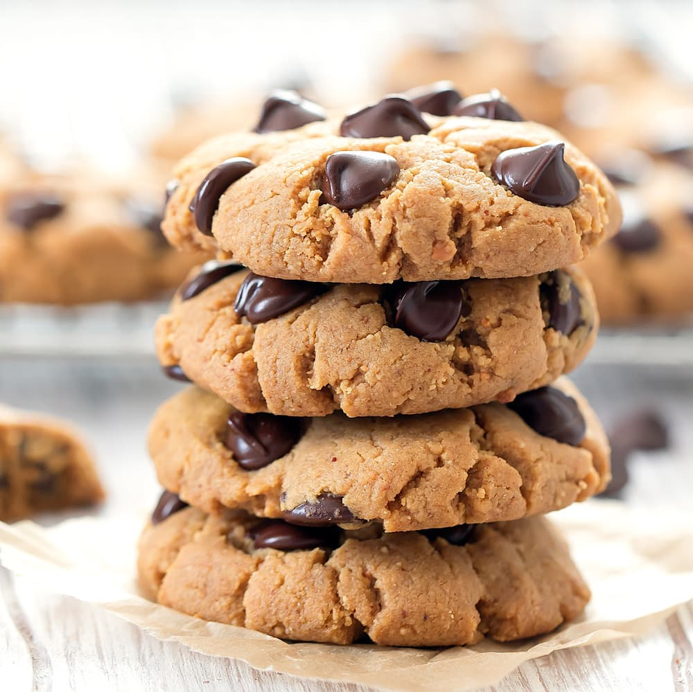Keto Peanut Butter Chocolate Chip Cookies Kirbie S Cravings
