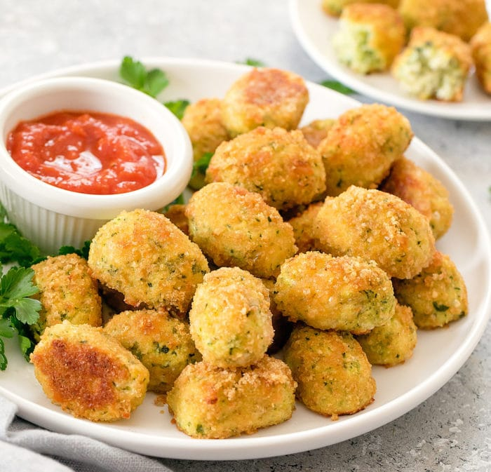 close-up photo of keto tots on a plate