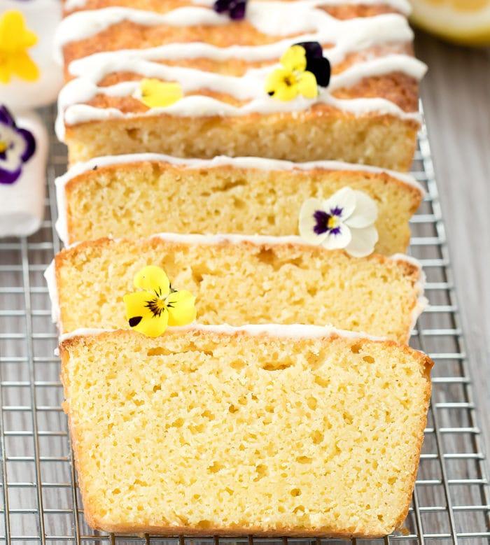 photo of lemon cake slices