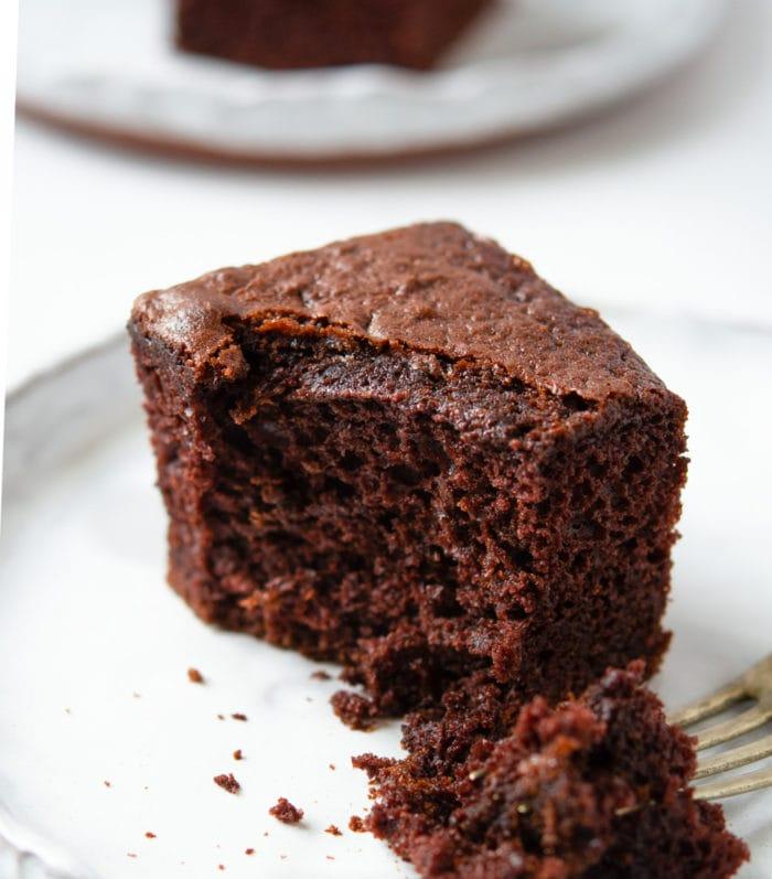 photo of a slice of chocolate cake