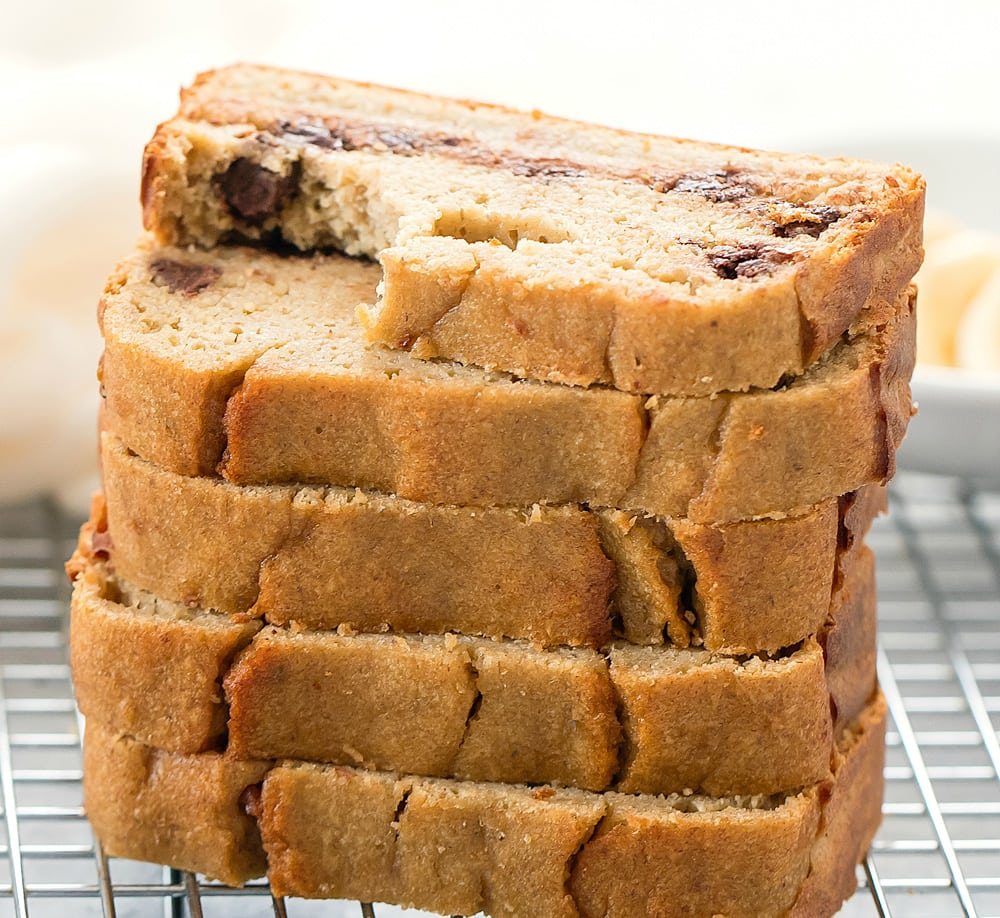 Flourless Banana Bread No Flour Butter Or Oil Kirbie S Cravings