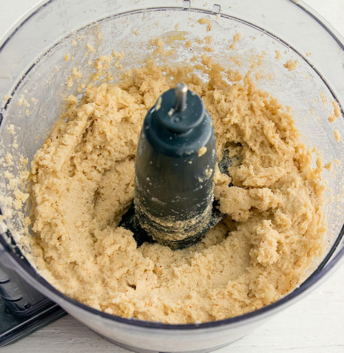 photo of the dough in a food processor