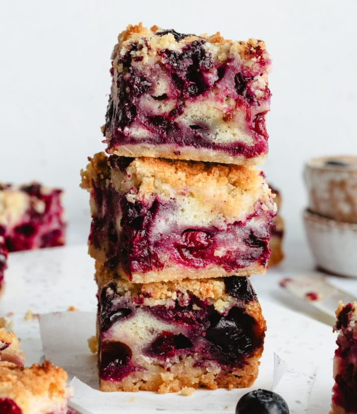 photo of a stack of pie bars