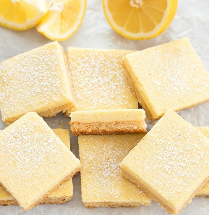 overhead photo of the lemon bars