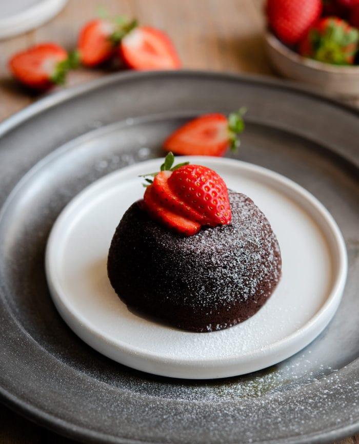 photo of a lava cake