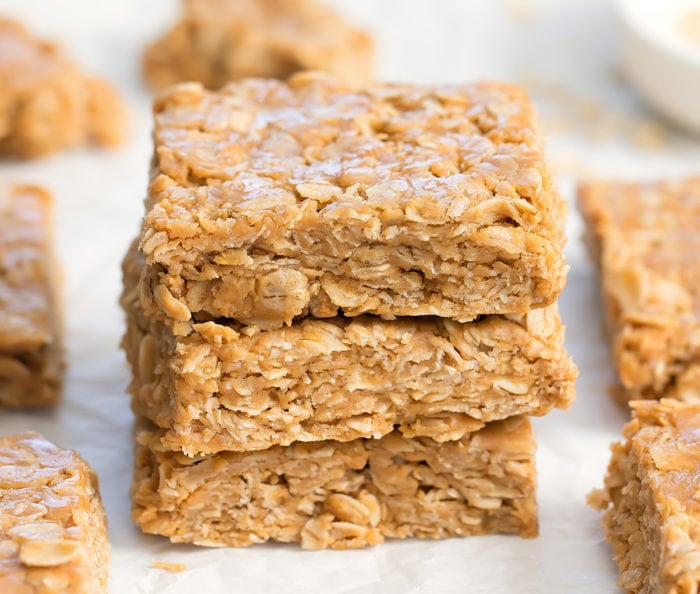 photo of stack of oatmeal bars