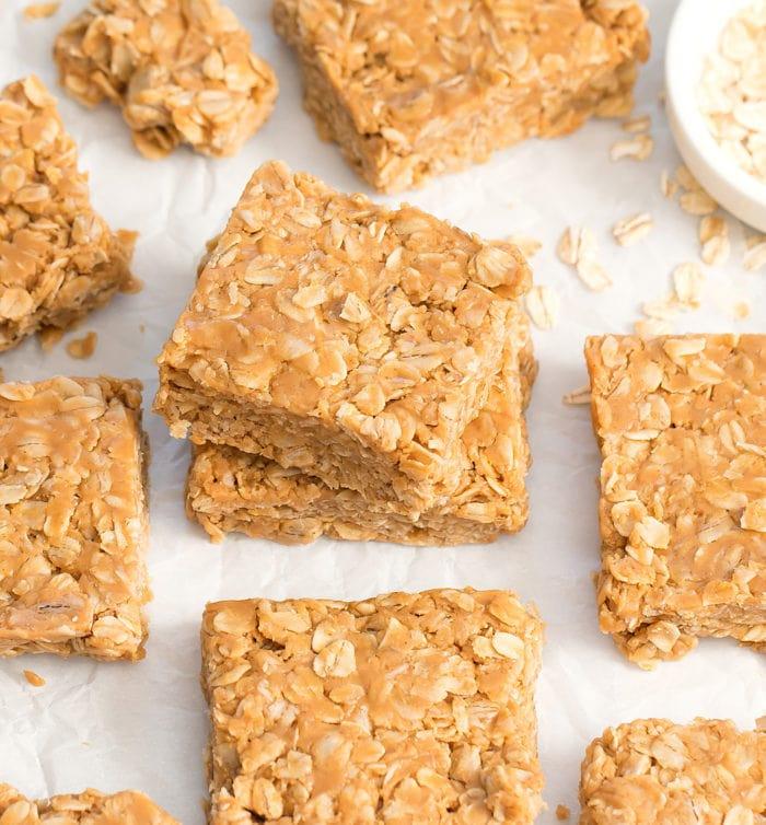 photo of no bake oatmeal bars