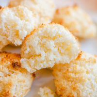 close-up photo of the coconut macaroon