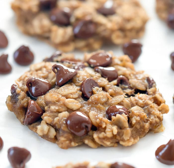 close-up photo of an oatmeal cookie
