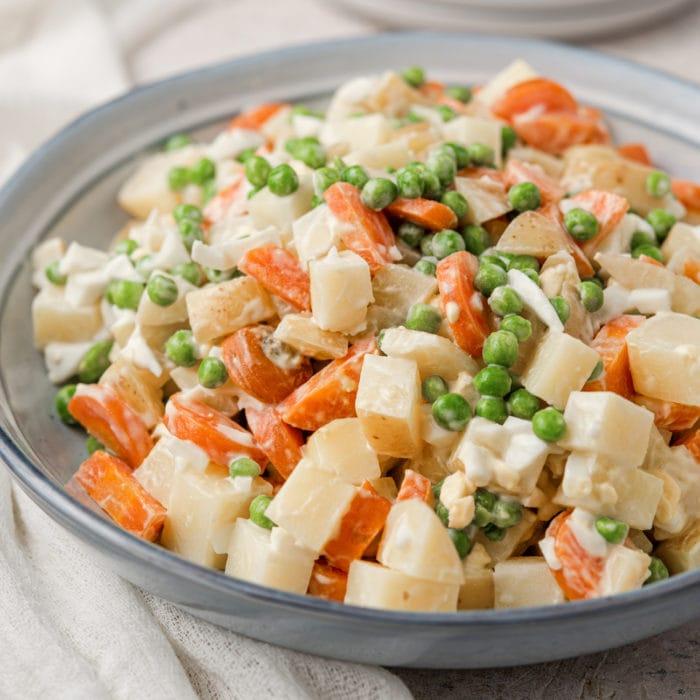 potato salad on a serving plate