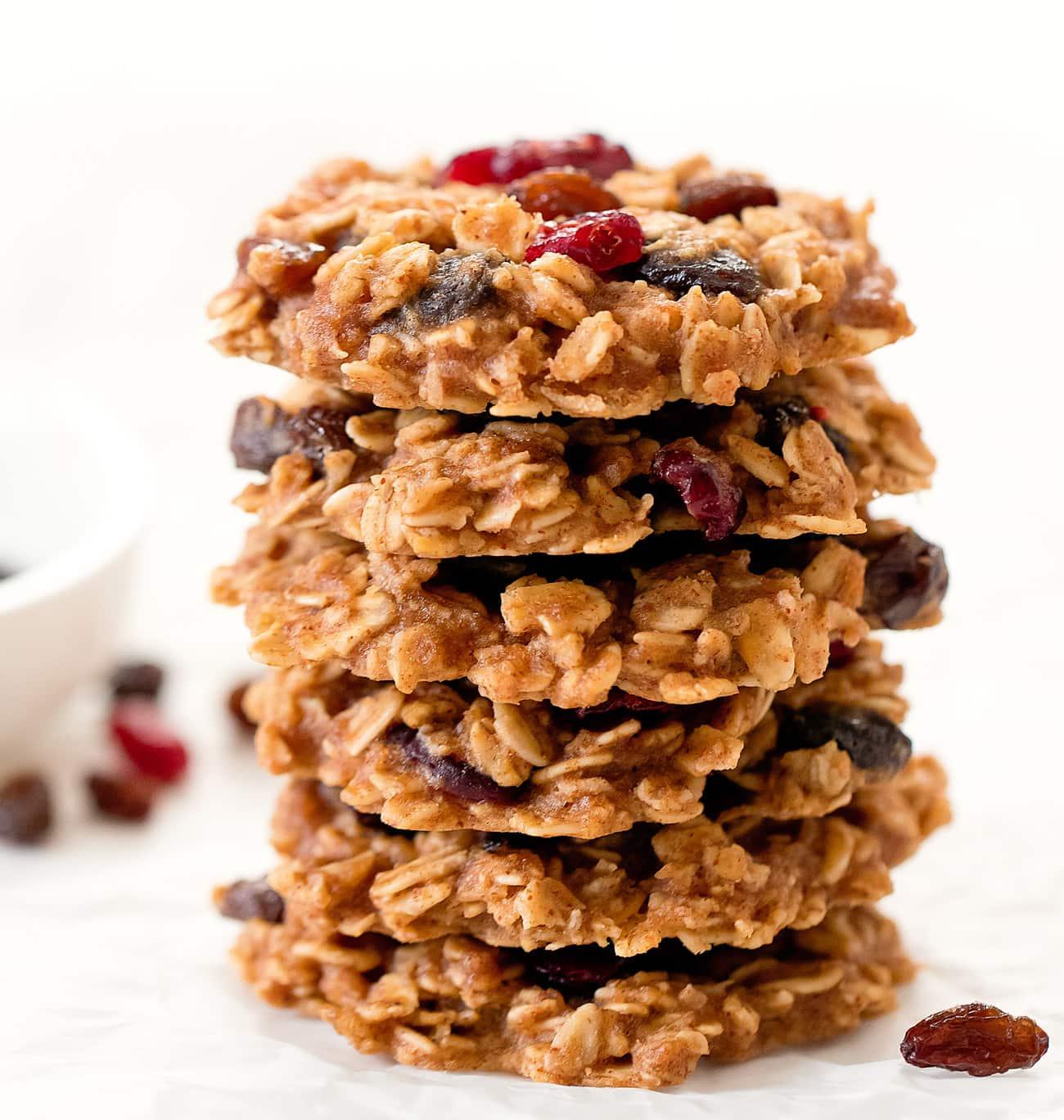 Healthy Oatmeal Raisin Cookies No Eggs Flour Butter Or Refined Sugar Kirbie S Cravings