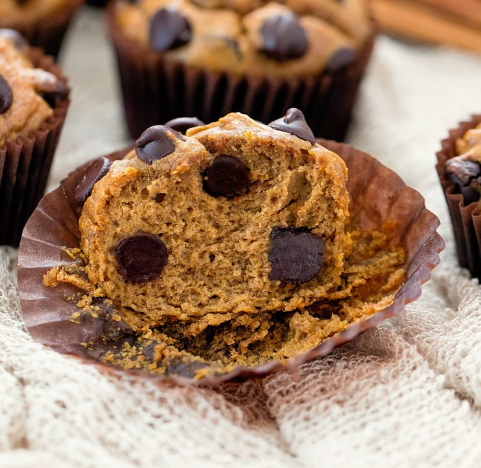 a muffin sliced in half