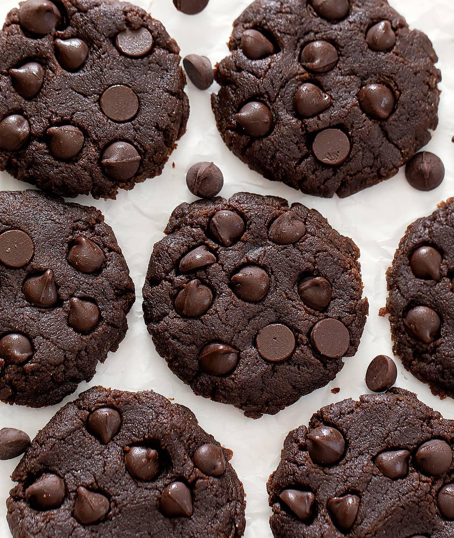 4 Ingredient No Bake Chocolate Cookies Keto Low Carb Kirbie S Cravings