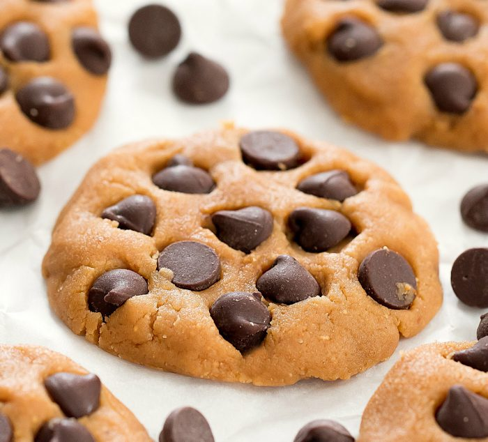 a no-bake cookie with chocolate chips.