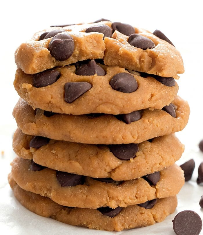 a stack of no bake cookies.
