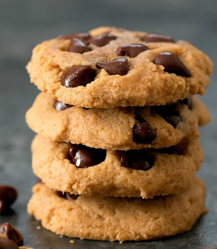 stack of four cookies