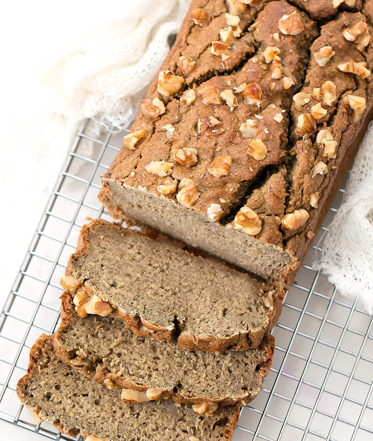 4 Ingredient Healthy Banana Oatmeal Bread No Flour Refined Sugar Or Butter Kirbie S Cravings