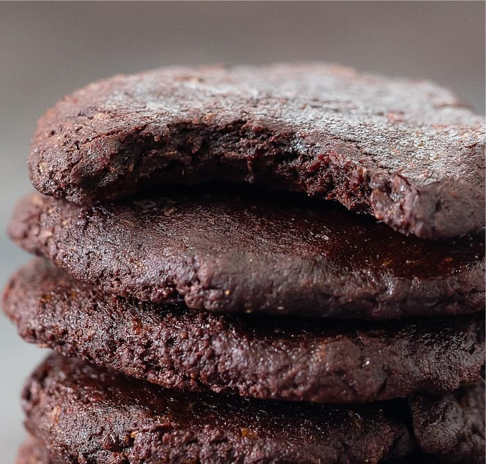 close-up shot of a cookie