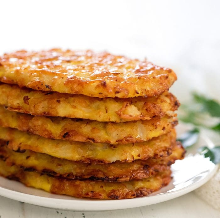 stack of keto hashbrowns