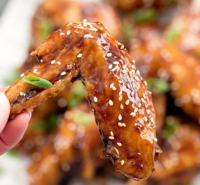 glazed chicken wing