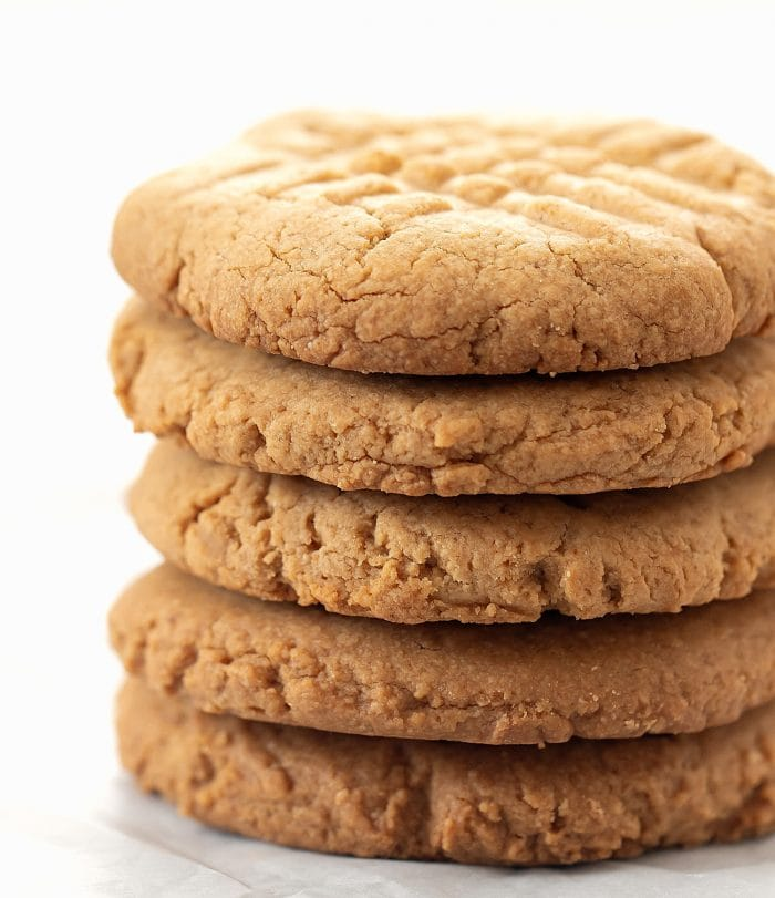 a stack of oat cookies