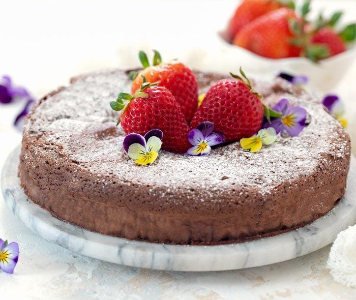 a whole chocolate cake.