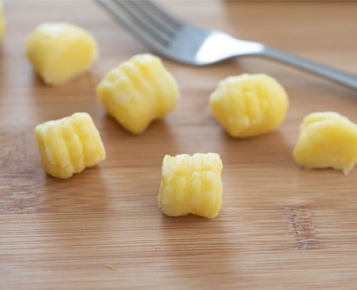 gnocchi with the fork impressions.