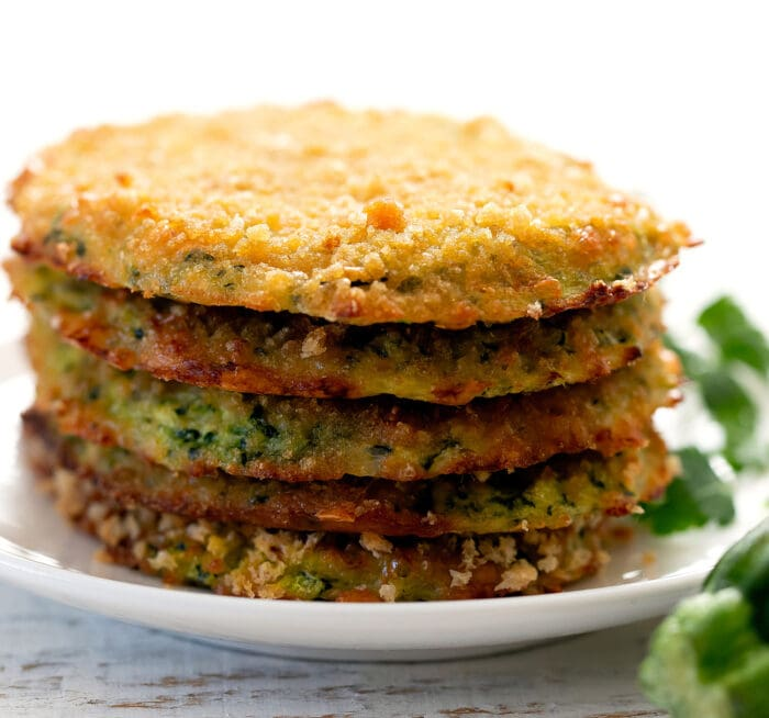 close-up shot of a stack of fritters.