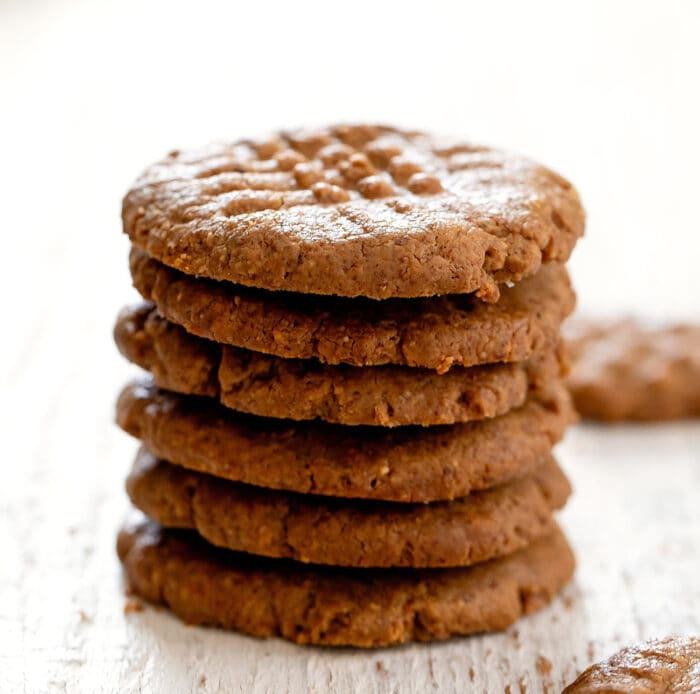 a stack of six cookies.